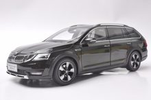 1:18 Diecast Model for Skoda Octavia Combi 2017 Brown Alloy Toy Car Miniature Collection Gifts(China)