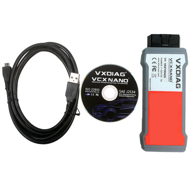 DHL HKP Free VXDIAG VCX NANO for Ford/Mazda 2 in 1 With IDS V95 Auto Scanner Support Vehicle Till 2015 Year Update By CD