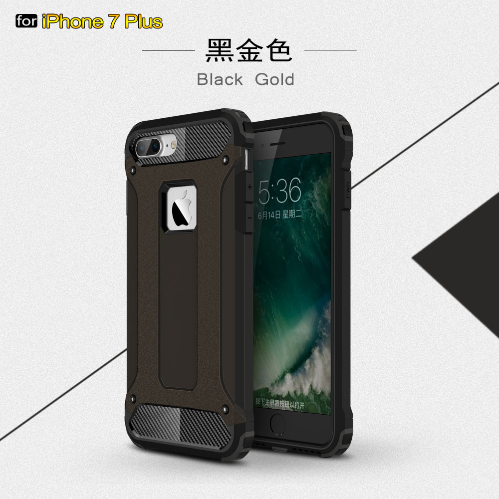 New Amazing Case For iPhone 7 Cases TPU+PC 2 in 1 Anti-knock Protection Mobile Phone Cover Case For iPhone 7 Plus