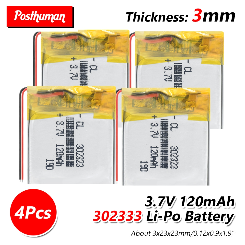 3.7V Lithium Ion Polymer Battery 302323 120mAh For MP3 Bluetooth Headset Watch Smart Band MP3 GPS LED Light Watch Locator