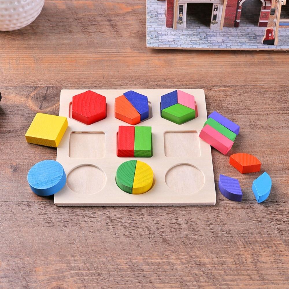 BS # S Copii Baby De învățare de lemn Geometrie Educaționale - Jocuri și puzzle-uri - Fotografie 6
