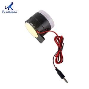 Image 5 - Red & Black Mini Wired 72 Mm Kabel 120dB Luid Sirene Hoorn Voor Home Security Sound Alarmsysteem DC12V 24V 5V Bescherming Voor Thuis