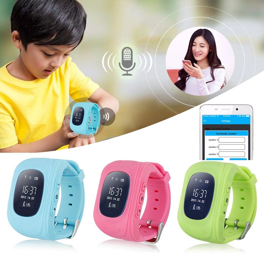 imágenes para Q50 gps gsm gprs smart watch kid niño inteligente localizador rastreador anti-perdida smartwatch inteligente muñequera monitor remoto con caja