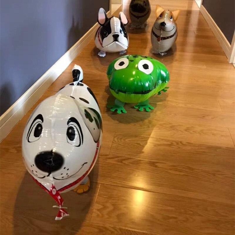 29 typer Walking Animal Balloons Cute Cat Dog Rabbit Panda Dinosaur - Semester och fester - Foto 3