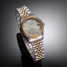 Абсолютно новые роскошные женские модельные стильные стальные браслеты серебряные золотые зеленые женские кварцевые часы