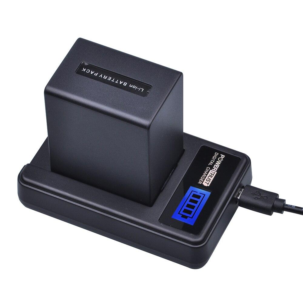 1 pcs 4500 mah NP-FV100 NP FV100 NPFV100 FV100 Batterie + LCD USB Chargeur pour SONY NP-FV30 NP-FV50 NP-FV70 SX83E SX63E FDR-AX100E