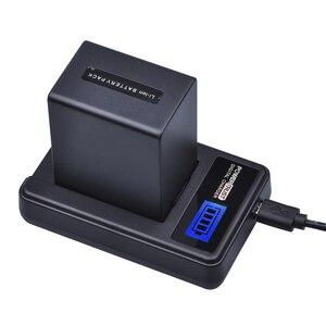 1Pcs 4500mAh NP-FV100 NP FV100 NPFV100 FV100 Battery + LCD USB Charger for SONY NP-FV30 NP-FV50 NP-FV70 SX83E SX63E FDR-AX100E