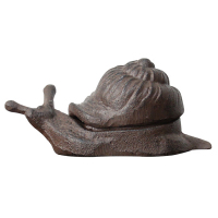 Cute Handmade Antique Rustic Cast Iron Snail Jewelry Storage Trinket Box