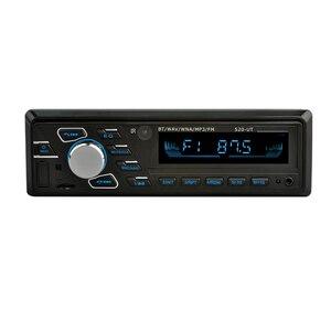 Image 3 - مشغل MP3 للسيارة 12 فولت صوت ستيريو للسيارة مزود بتقنية البلوتوث جهاز استقبال إف إم مزود بمعيار دين واحد مزود بمدخل Aux مشغل راديو USB MP3 WMA مشغل راديو BT للسيارة mp3
