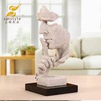 Silêncio é ouro arenito escultura arte ornamentos tão bom quanto água abstração mobiliário doméstico artesanato 4076 escritório