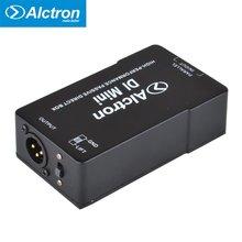 Alctron DIMini Passive Direct Box, Caixa DI Estéreo com Atenuação de Borracha Pad 1/4, Saída XLR