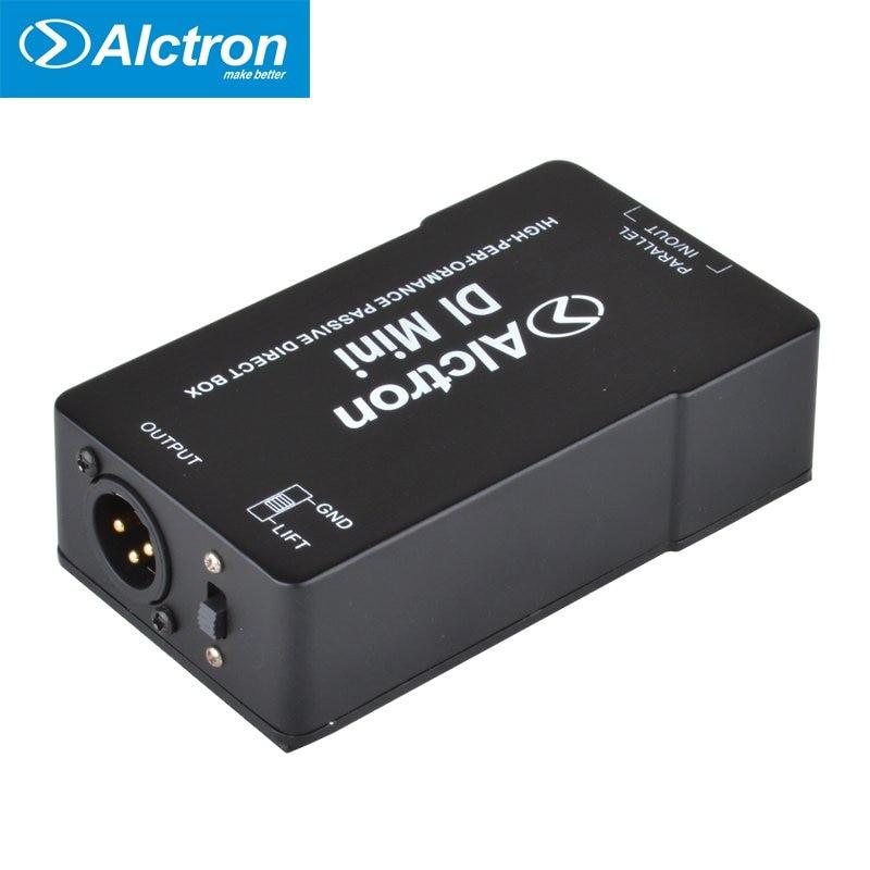 Alctron DIMini scatola diretta passiva, scatola Stereo DI con tampone DI attenuazione in gomma 1/4, uscita XLR