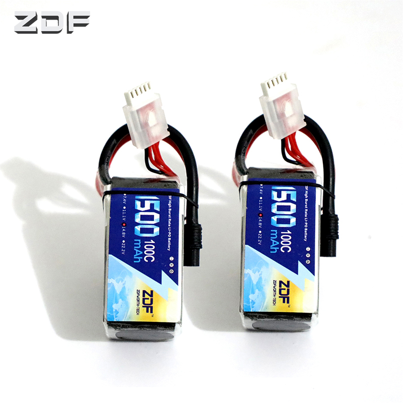 2PCS ZDF <font><b>1500mAh</b></font> <font><b>4S</b></font> 14.8V <font><b>100C</b></font> <font><b>Lipo</b></font> Battery with SY60 plug RC Car Truck Airplane FPV image