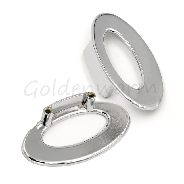 Drawer Pulls Polished Chrome Hole Center 1 1/4 inch Ring Pulls ...