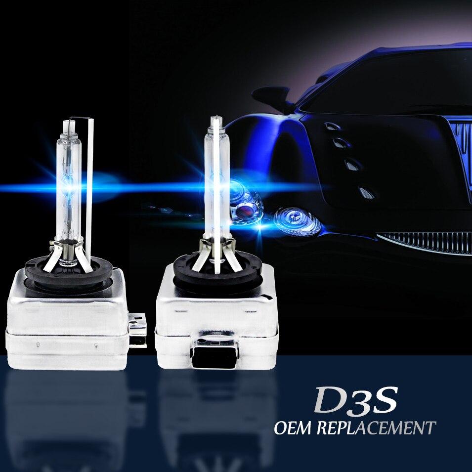 Auto Care D3S D3C Xenon HID Car Headlight Lamp 2PCS 12V 35W  3600LM Xenon Super Bright Bulb Lamp Light for HID Xenon Replacement