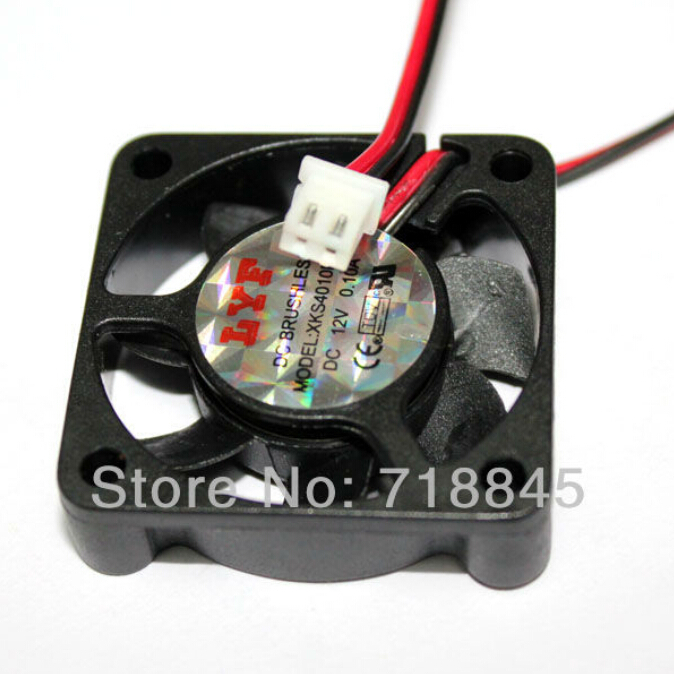 Купить с кэшбэком 1Pcs  Black 2 Pin 12V 40mm x 10mm 4010 Brushless DC Fan PC Cooling Cooler Fan