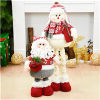 Retractable Natal Santa Claus Xmas Dolls Christmas Decorations Navidad 2018 Kids New Year Gift Christmas Decorations For Home