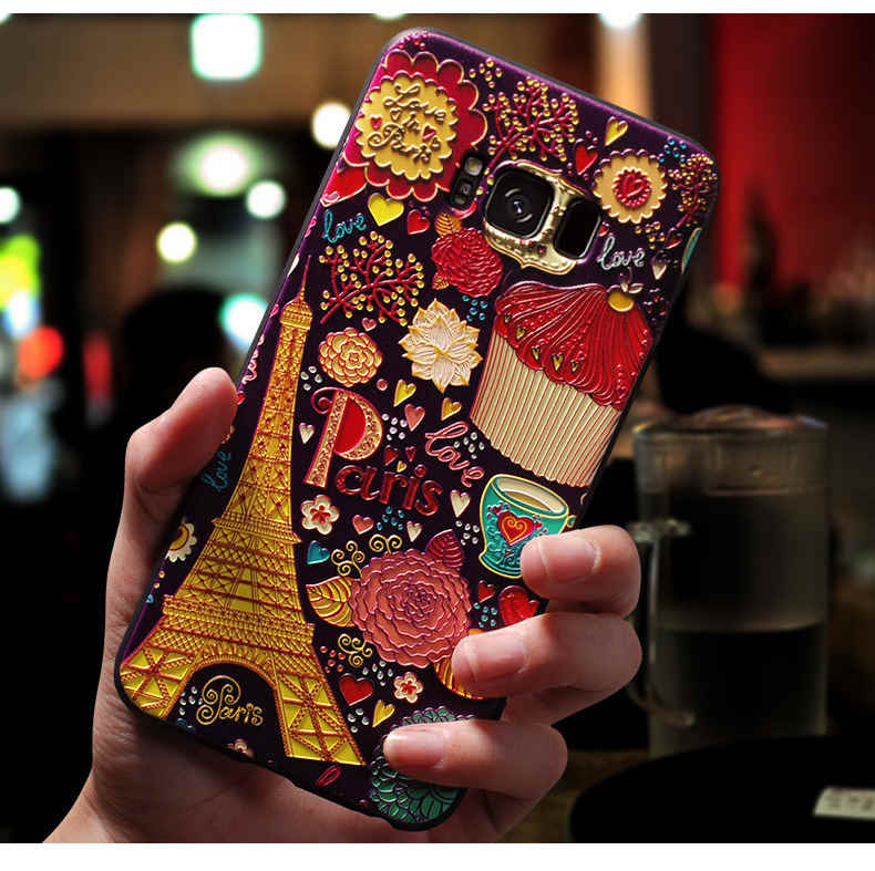 For Samsung Galaxy A50 Case 3D Flower Emboss Soft Silicone Phone Cover For Samsung S10 Plus S10e S 10 Lite A30 M20 A20 Cases
