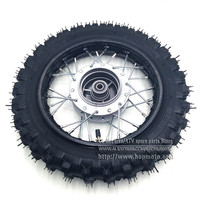 2 50 10inch Tyres Front Steel Rims Drum Brake Wheels Rims Hub CRF50 Kayo Chinese Dirt