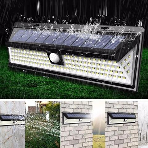 90 118 solar luz do jardim led sensor de movimento da lampada solar a prova
