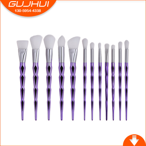 12 Make-up Brush, Makeup Tool, Makeup Brush, Make-up Tool, Makeup Tool Powder Brush and Eye Brush Diamond GUJHUI тушь make up factory make up factory ma120lwhdr04