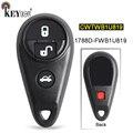 KEYECU FCC: CWTWB1U819 замена 3 + 1 4 кнопки дистанционный смарт ключ-брелок для Subaru Impreza Forrester Outback Legacy