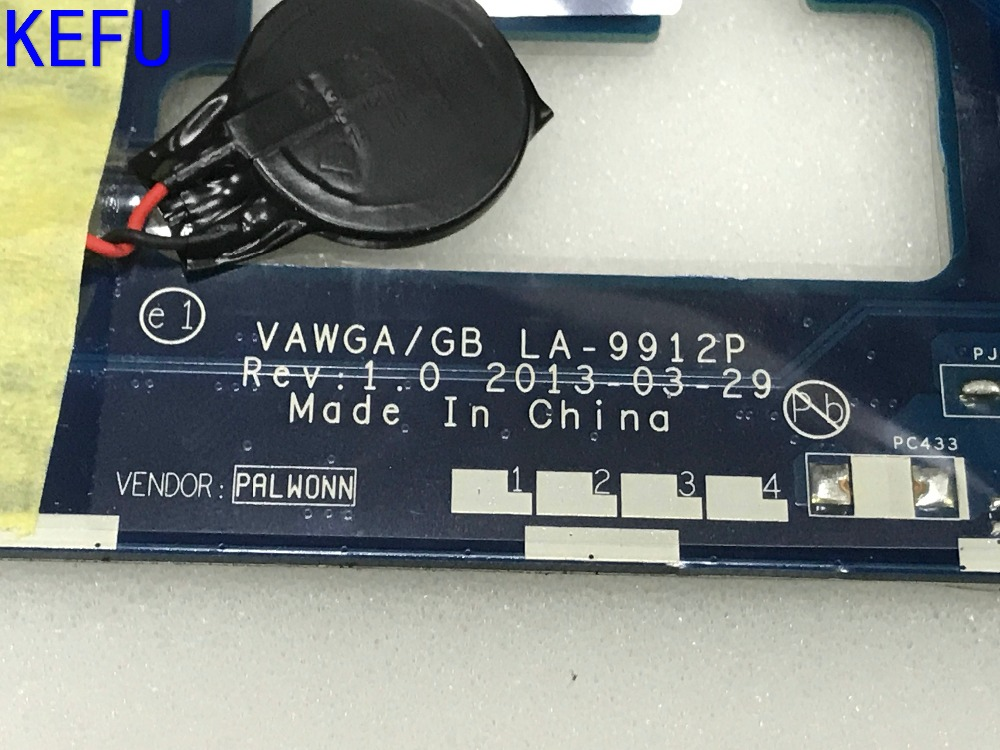 KEFU NEW HOT IN RUSSIA  !! FREE SHIPPING VAWGA /GB LA-9912P Laptop Motherboard for Lenovo G505 Notebook PC PROCESSOR  E1-2100