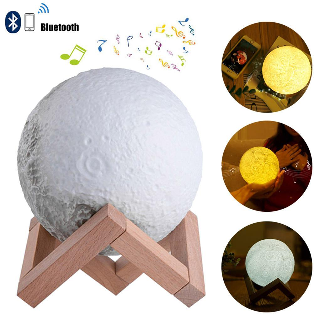 LumiParty Night Light Moon Lamp with Built-in Bluetooth Speaker moon light 13cm Dimmable Decorative Romantic Gift