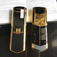 Luxury Flip Mobile Phone K9+ Ceramics Good Quality No Camera Dual Sim Signature Style