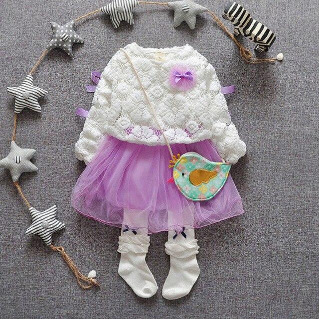 Hot Sale! New 2016 Brand Newborn Baby Net Yarn Princess Dress Baby Party Dress Infant Babywear Kids Children Baby Clothing