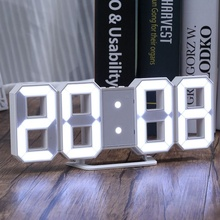 Original Modern Wall Clock Digital 3D LED Table Watches 12/24 Hours Display mechanism Alarm Snooze Desk