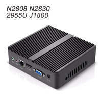Intel Celeron N2808 N2830 Mini PC Windows 10 Linux Fanless Intel Mini Computer HTPC Media Player WIFI HDMI Office Desktop PC