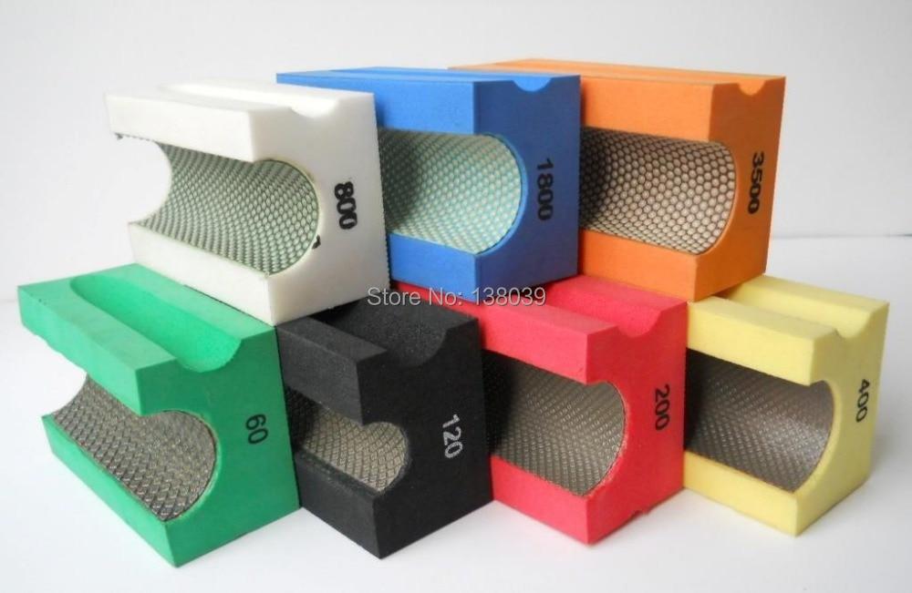 30mm Diamond Electroplated Hand Polishing Bullnose Pads 90*55mm (10PCS)
