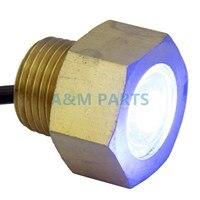 Blue Led Boat Drain Plug Light Garboard Brass1/2 NPT Marine Underwater Light 7W