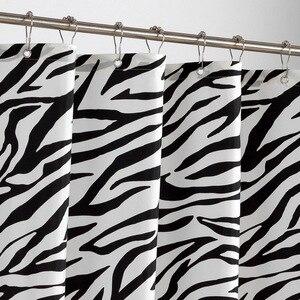 Image 4 - Zebra Stripes tkanina poliestrowa kurtyna łazienkowa odporne na pleśń miękka zasłona wanny wodoodporne Skidproof akcesoria łazienkowe