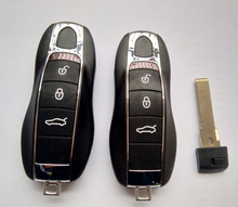 3 Buttons Smart Remote Key Shell Case For Porsche Cayenne Panamera Keyless Entry Fob Cover