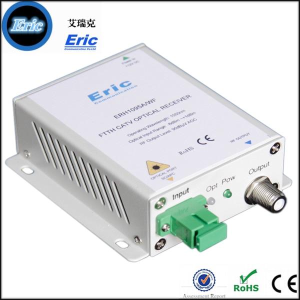 imágenes para Hecho en china sin AGC CATV receptor óptico/fibra óptica receptor construir en WDM ERH1095A/WF