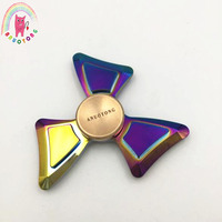 2017 New Colorful Tri Spinner Fidget Spinner Metal Toy Hand Spinner Fidget For Autism And ADHD
