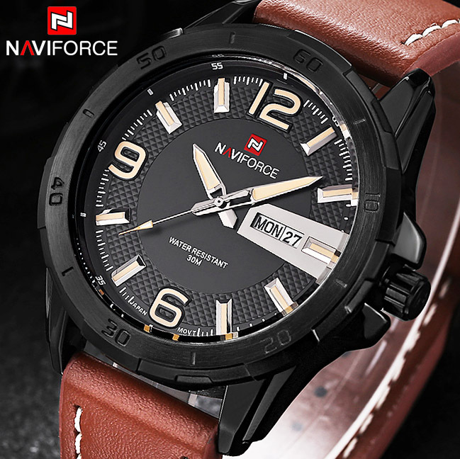 2016 New Brand Men Leather Strap Sports Watches Men's Quartz Clock Man Army Military Fashion Casual Waterproof  Wrist Watch weide 2017 new men quartz casual watch army military sports watch waterproof back light alarm men watches alarm clock berloques