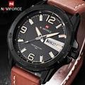 2016 Nova Marca De Couro Dos Homens Correia Relógios Desportivos Homem Relógio de Quartzo dos homens Do Exército Militar Moda Casual Relógio de Pulso À Prova D' Água