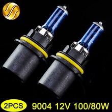 Hipppcron 9004 HB1 12V 100/80W синяя галогенная лампа 2 шт супер белый P29t 5000K Авто сменный светильник автомобильная лампа