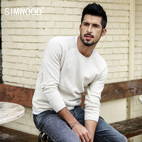 SIMWOOD 2017 Autumn New Sweater Men Slim Fit 100 Pure Cotton Pullover Male Knitted Sweater Male