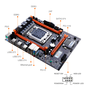 Image 4 - Huananzhi X79 4M 마더 보드 LGA 2011 USB2.0 SATA2 지원 REG ECC 메모리 및 Xeon E5 프로세서