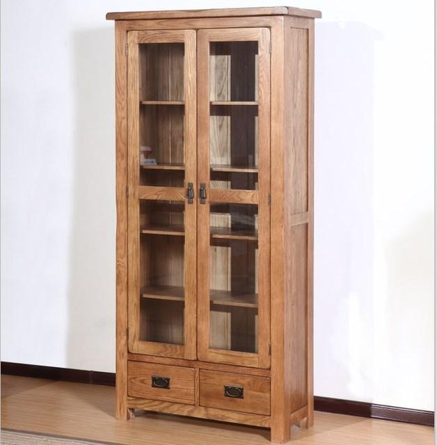 alle massief houten boekenkast eiken boekenkast eenvoudige twee planken met deur boekenkast met een lade opslag