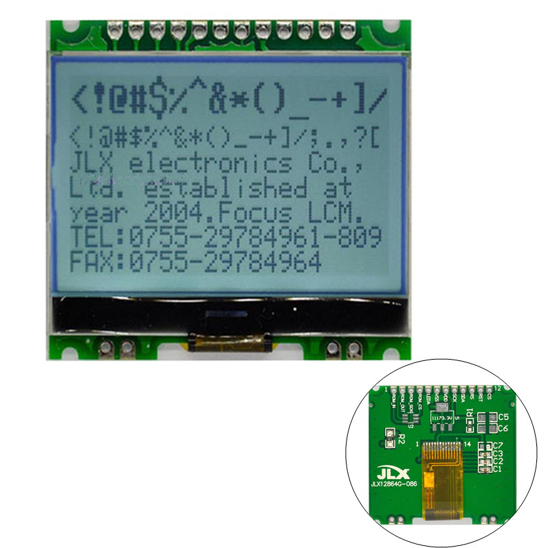 3.3V 12864G-086-P Dot Matrix Module 12864 LCD Dispaly Module With Backlight COG