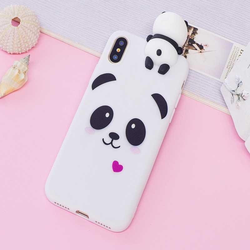 Для iPhone 5 5S SE, 6, 6S Plus, 7, 7 Plus, 8 Plus чехол 3D мультфильм панда, единорог, задняя крышка для iPhone 5,8 6,1 6,5 2019 чехол Coque
