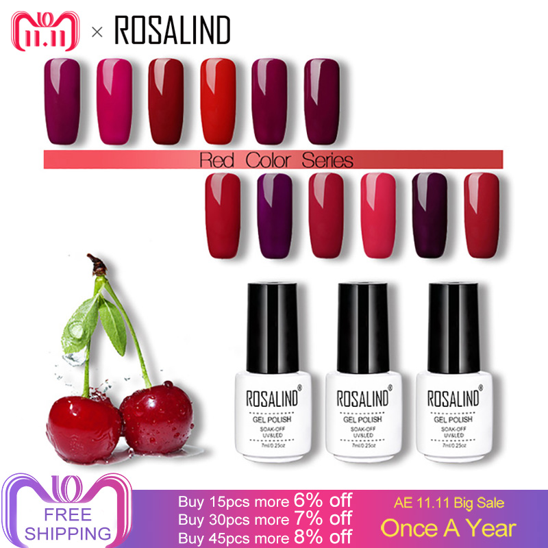 ROSALIND 7ml Nail Gel Polish Manicure Cherry