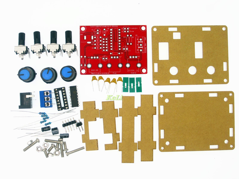 Function Signal Generator DIY Kit Sine/Triangle/Square Output 1Hz-1MHz Signal Generator Adjustable Frequency Amplitude XR2206 10hz 1mhz low frequency function signal audio generator producer rek rag101