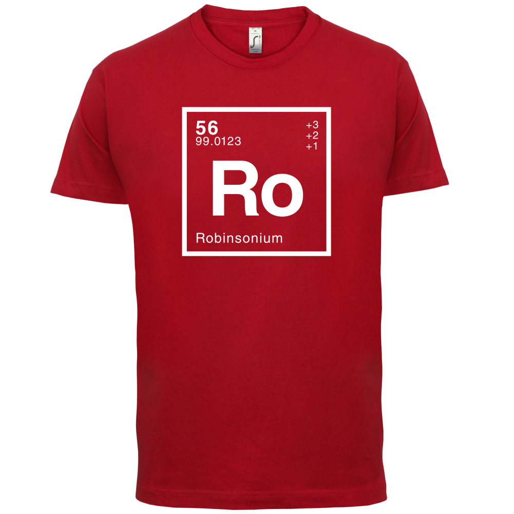 ROBINSON Periodic Element - Mens T-Shirt - Geeky / Chemistry - 13 Colours Print T Shirt Mens Short Sleeve Hot Tops Tshirt Homme image