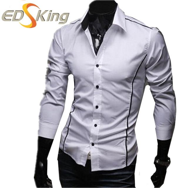 74fee7654e894 Mens camisas casual manga longa camisa dos homens verificador de estilo  militar menswear sociais vestidos cinza
